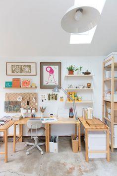 Art Studio Room, Art Studio Design, Art Studio At Home, Home Art, Home Office Design, Home Office Decor, Interior Design Inspiration, Home Decor Inspiration, Transformer Un Garage