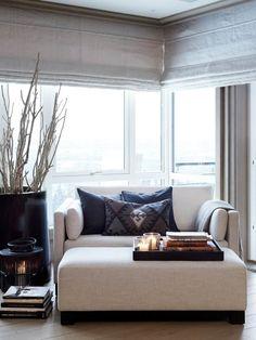Corner seating living room sofas reading nooks ideas for 2019 My Living Room, Home And Living, Living Room Decor, Living Spaces, Small Living, Decor Room, Corner Seating, Bedroom Seating, Bedroom Chair