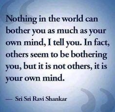"""""""Não há nada no mundo que possa te incomodar mais do que a sua própria mente"""". Arte De Viver Sampa"""