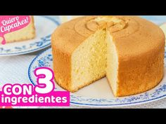 BIZCOCHO EXTRA ESPONJOSO CON 3 INGREDIENTES | RECETA FÁCIL | Quiero Cupcakes! - YouTube Basic Sponge Cake Recipe, Sponge Cake Recipes, Cookie Desserts, Holiday Desserts, Cupcakes, Cupcake Cakes, Layer Cake Recipes, Dessert Recipes, Pan Dulce