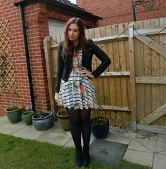 Primark floral stripy dress outfit post