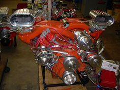 426 Max Wedge with a cross ram intake. Hemi Engine, Motor Engine, Car Engine, Mopar, Jets, Diesel, Performance Engines, Race Engines, Combustion Engine