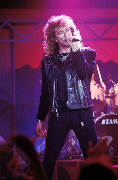 Robert Plant during Taping for 1988 MTV New Year's Eve Party in Los Angeles California United States