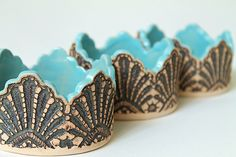 Made to Order: Handmade Moroccan Lace Jewelry Dish or Candle Holder in Turquoise. $40.00, via Etsy.