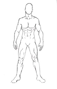 Anatomy Drawing Male Male Character Pose 1 by One-With-No-Color - Body Reference Drawing, Human Figure Drawing, Body Drawing, Art Reference Poses, Male Drawing, Body Sketches, Anatomy Sketches, Anatomy Art, Drawing Sketches