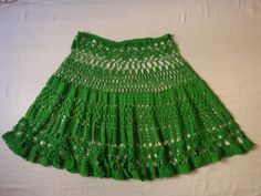 Crochet skirt.