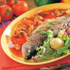 Lahôdkový pstruh - Recept pre každého kuchára, množstvo receptov pre pečenie a varenie. Recepty pre chutný život. Slovenské jedlá a medzinárodná kuchyňa Fish Food, Fish Recipes, Ramen, Ethnic Recipes, Windows