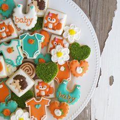 cookie fox baby showers baby shower fox woodland baby shower cake mini