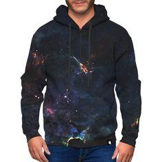 Deep Space Zip-Up Hoodie. Creative design sweatshirt, long sleeves with hood, kangaroo pocket, cuffs and elastic knit bottom. This premium zip-up hoodie is Zip Up Hoodies, Sweatshirts, Colorful Hoodies, Grey Zip Ups, Deep Space, Stay Warm, Creative Design, Organic Cotton, Stylish