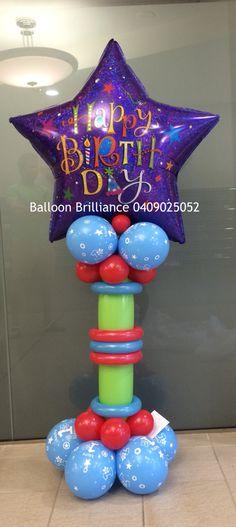 """""""Leon"""" #happybirthdayballoons #firstbirthdayballoons #1stbirthdayballoons #balloondellivery #balloondeliverycanberra #sendballoonscanberra #act #cbr #canberraballoons #BalloonBrilliance"""