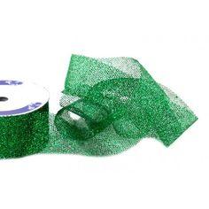Nastri decorativi - Nastro Glitter Rete Verde mm 15 metri 15 - un prodotto unico di raffasupplies su DaWanda