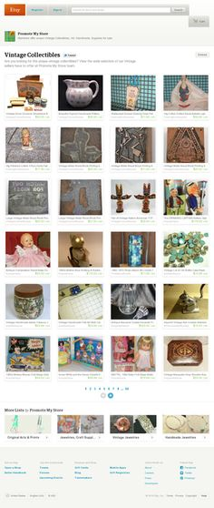 Vintage Collectibles - Are you looking for the unique vintage collectibles? View the wide selection of our Vintage sellers have to offer at Promote My Store team. https://www.etsy.com/pages/promote-my-store/vintage-collectibles?