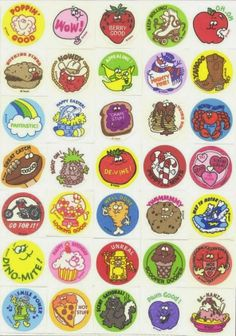 scratch and sniff stickers. In the 80s it was popular to collect stickers. People brought albums to school to trade
