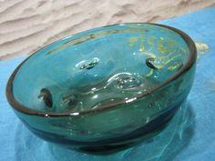 Small Bowl Empoli Verde Glass – 1950s 1960s Fifties – Clear Emerald Green – Vintage Italian Mid Century – Murano Italy von everglaze auf Etsy