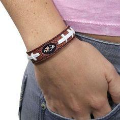 Baltimore Ravens Brown Football Bracelet
