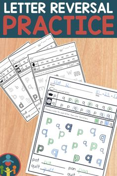 Correcting those letter reversal can cause a lot of confusion. These worksheets are a fun way to practice those letter reversal strategies. Give students a few tips and let them practice correcting those letter reversals. Use them with other fun activities and games. Kindergarten (kinder), first grade (1st grade), and second grade (2nd grade) #letterreversals #firstgrade Phonics Rules, Teaching Phonics, Teaching Kids, Teaching Resources, Primary Teaching, Elementary Teaching, Kindergarten Reading, Kindergarten Activities, Fun Activities