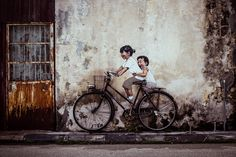 Ernest Zacharevic- I loved this piece when I stumbled upon it in Penang, Malaysia.