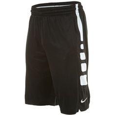 Efficient Nike Elite Stripe Dri-fit Black Basketball Game Shorts Strong Packing Men's Clothing