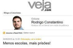 """Por Dentro... em Rosa: Como qualificar o colunista da Veja que pediu """"men..."""