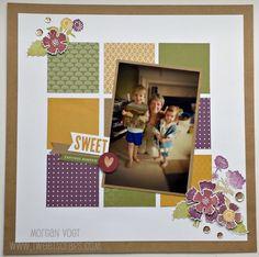 TweetScraps: September Stamp of the Month - Paper Garden Rose Blossom Blog Hop