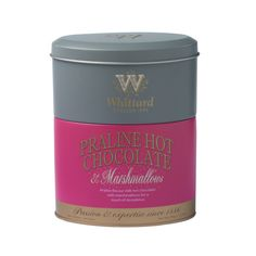 Christmas Praline Hot Chocolate & Marshmallows Stacking Tin - Whittard ==== Sales after christmas Coffee Gift Sets, Coffee Gifts, Coffee Set, Tea Packaging, Packaging Design, Hot Chocolate Gifts, Whittard, Coffee Snobs, Flavored Milk