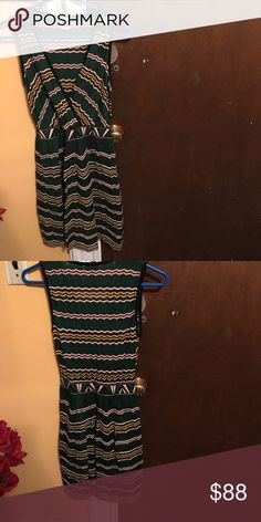 Knit dress Missoni sleeveless multi colored  v neck fit & straight knit dress. Size Smalll. Worn once in photo shoot Missoni Dresses