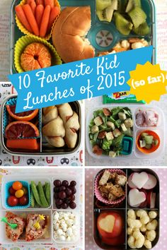 10 Favorite Kid Lunches of 2015 (so far) -- lots of fresh ideas to get me through the end of the school year!