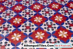 AthangudiTiles.Com - Athangudi Tiles - Tile Designs Room Wall Tiles, Indian Crafts, Tile Design, Wood Crafts, Kids Rugs, Flooring, Antiques, Home Decor, Antiquities
