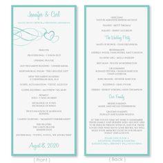 wedding program template vintage navy blue editable word