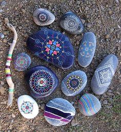 painted rocks: by Emel