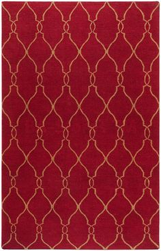 Fallon Vertical Lattice Pattern Rug in Maroon and Brown