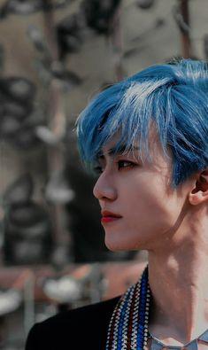 Kpop Wallpaper, Nct Dream Jaemin, Na Jaemin, Aesthetic Photo, Korean Men, Boyfriend Material, Taeyong, Jaehyun, Blue Hair