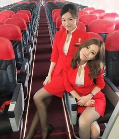 "Nancy Drews of the Air! These two Air Asia stewardesses worked out that a wanted drugs smuggler was travelling under a false name. ""He had a Japanese passport but couldn't speak Japanese!"" related Soolin Chung (right). The girls recognised the man from a Wanted poster and when they confronted him, he quickly owned up and surrendered. ""We took him to the back of the plane and tied him up,"" related manager Kim Yang (left). ""He was amazed that it was two air hostesses that had caught him!."" ✈️"
