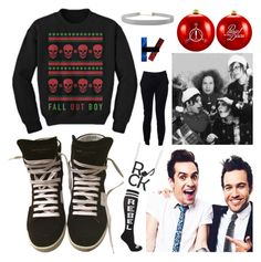 """Emo Christmas"" by headphones-girl ❤ liked on Polyvore featuring Mikey, Humble Chic, T By Alexander Wang, Yves Saint Laurent and claire's"