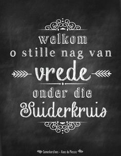 Christmas words in Afrikaans - Wolcome Oh Silent night of piece under the southerncross -Judith Doubell Somerkersfees Koos du Plessis