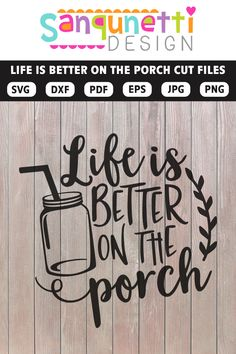cricut vinyl projects Life is better on the porch SVG rustic farmhouse cut files. Use this for all your paper crafting and vinyl projects. Cut them on your Silhouette and Cricut, Vinyl Crafts, Paper Crafts, Wood Crafts, Cricut Vinyl Projects, Shilouette Cameo, Crafts For Teens To Make, Circuit Projects, Brother Scan And Cut, Silhouette Cameo Projects