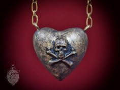 https://www.etsy.com/listing/127968449/puffy-heart-pendant-charm-victorian?ref=shop_home_active  Fashion victorian chain necklace entirely hand made using aged brass and epoxy resin . The Puffy heart was made in epoxy resin Heart Size: 1,57 X 1,57 X 1 Chain lenght: 2 feet