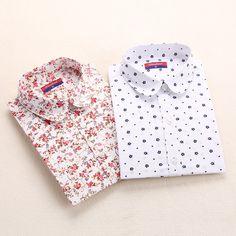 Nuevo Algodón Mujeres de La Vendimia Camisetas Turn Down Camisa de Cuello Blusas Femininas 5XL Más El Tamaño de Manga Larga de las Blusas de Flores de Las Mujeres Tops 2016