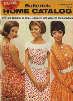 Butterick dress pattern 1962