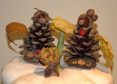 Handmade with my children...Elves of the forest... / We´re having the baby...