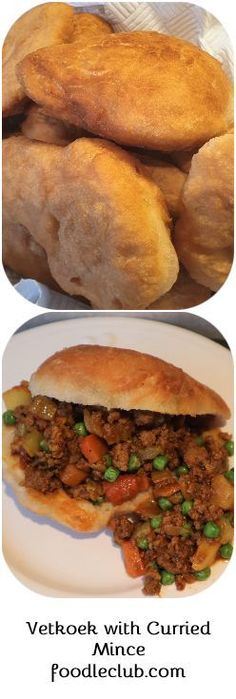 Vetkoek and curried mince - traditional South African vetkoek, filled with a delicious curry. South African Recipes, Ethnic Recipes, How To Make Curry, Hottest Curry, Lamb Curry, Easy Homemade Recipes, Potato Curry, Vegetable Puree, Chicken Livers