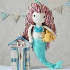 Amigurumi örgü oyuncak büyük boy denizkızı modeli yapılışı anlatımlı