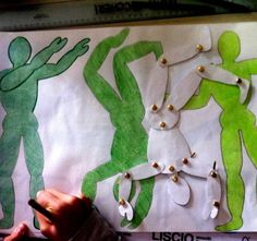 "DRAWING PEOPLE movement -- they can be sketched in poses and these are called ""gesture drawings"" Art Drawings For Kids, Art For Kids, Art Doodle, Middle School Art Projects, 3rd Grade Art, Gesture Drawing, Art Lessons Elementary, Drawing Lessons, Elements Of Art"