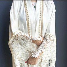 Stunning limited edition silk abaya with lace and pearls. 1 piece remaining on SALE www.qabeela.biz #limitededitions #qabeela #modestfashion #hijabstyle #hijabblogger #hijabinspiration #styleofarabia #styleinspiration #abaya #kimonocardigan #luxurylife #hijabfashion #dohafashion #qatarstyle #luxurylife #BeautyBloggers #qabeelagirls #dubaistreetstyle #styleinspiration #dohafashion #abudhabifashion #qatarstyle #instafashion