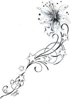 flower star tattoo designs | Flowerstarstattoodesign By 2face Tattoo Fairies And Vampires