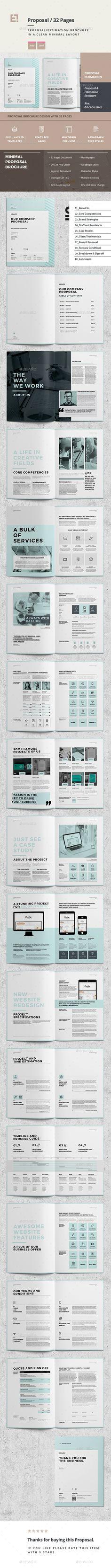Sleman Clean Proposal Template Pinterest