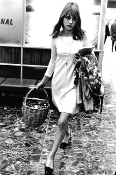 Photo via Harper's Bazaar  When we booked our trip to Paris months back, (it's coming up SO SOON! Less than 3 weeks!) I started having visions of Neal and I strolling through the city with no particular plan in mind, picnicking on the Seine, eating baguettes, and me wearing some incredibly french-inspired outfits...