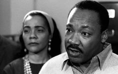 Martin Luther King and wife, Coretta, 1967