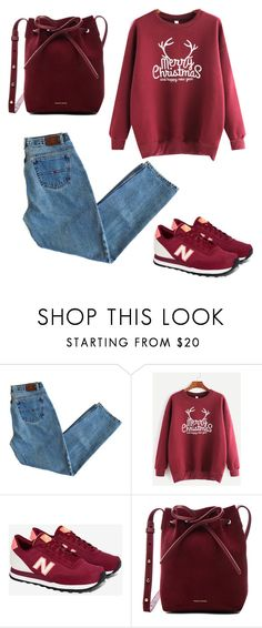 """red christmas"" by marielaznickova on Polyvore featuring New Balance and Mansur Gavriel"