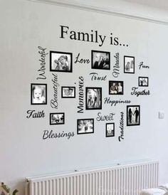 Wall Art Designs: Family Wall Art Artwork Mural Paintings Family Wall Art Quote Collage Awesome Photos On Framed Bordered Love Trust Faith Memories Creative Decor Stickers, Family Wall Art Home Ideas Wall Decor Family Wall Decor Family Wall Decal